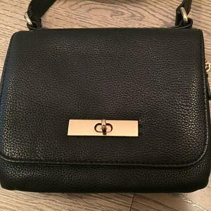 Forever 21 Black Faux Leather Crossbody Purse